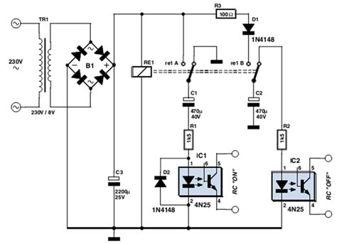 Simple Remote Control Mains Switch Electronic Circuits