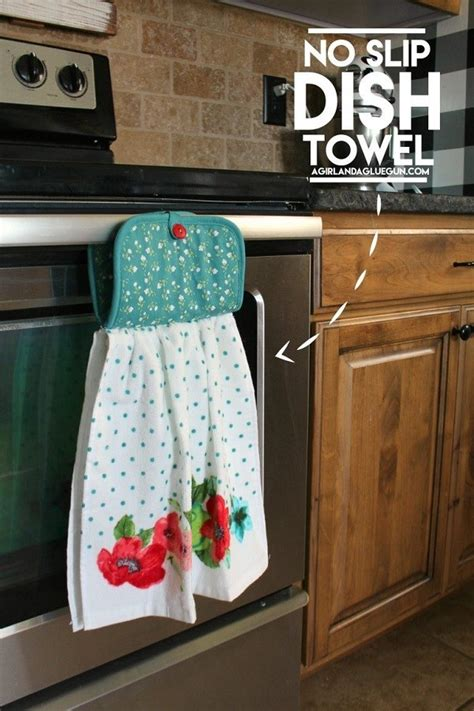 tutorial easy  slip dish towel sewing