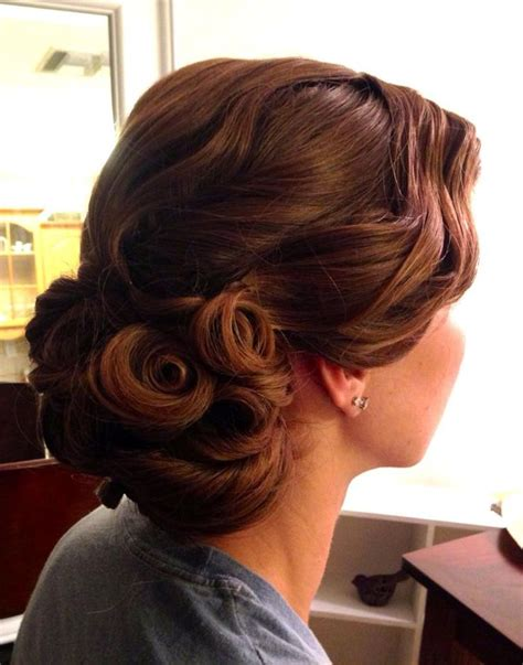 25 ideas about curl updo on retro