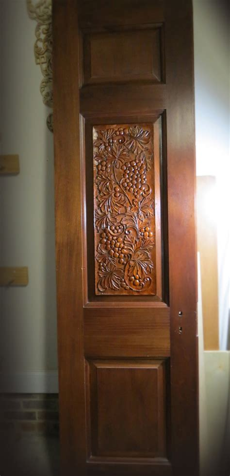relief woodcarving  antique mahogany doors