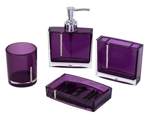 purple bathroom accessories sets design cool ideas  home