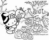 Coloring Pages Drawing Hello Halloween Printable Graveyard Kitty Draw Simple Cartoon Easy Drawings Cute Jack Colorings Woodland Getdrawings Getcolorings Haloween sketch template