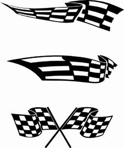 Wavy Checkered Flag - ClipArt Best
