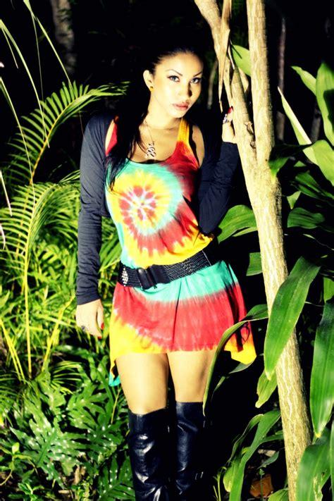 Singer Karian Sang wearing the Cooyah u0026quot;Rasta Swirlu0026quot; tie-dye dress. $49.87 at cyevolution.com ...