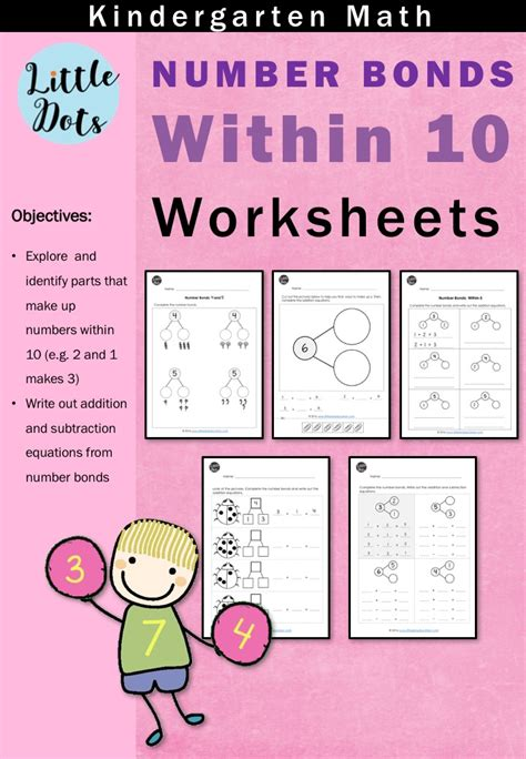 number bonds worksheets  kindergarten payhip