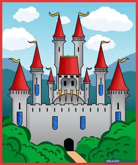 draw  castle step  step buildings landmarks