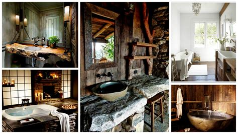 Design Decor by 40 Exceptional Rustic Bathroom Designs Filled With