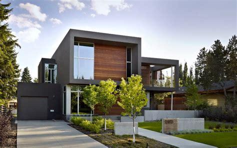 sd house modern exterior edmonton  thirdstone