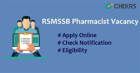 Pharmacist Vacancy by Rsmssb Pharmacist Vacancy 2018 Rajasthan Nrhm 1736