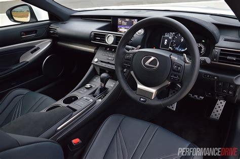lexus rc interior 2015 lexus rc f review performancedrive