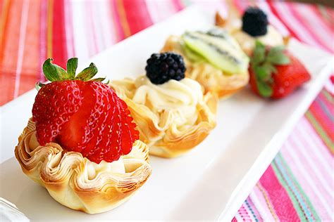 The flaky, delicate dough has been on my list for a while and i've had plenty of recipes in mind! Fresh Fruit Phyllo Tartlettes - The Comfort of Cooking