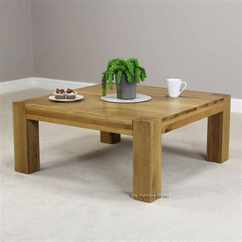 New Chunky Oak Square Coffee Table  Living Room Furniture