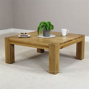 New chunky oak square coffee table living room furniture for Chunky square coffee table