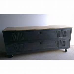 Meuble Tv Casier Industriel : meuble tv industriel ou de chaussures avec un ancien vestiaire 2 portes heure cr ation ~ Nature-et-papiers.com Idées de Décoration