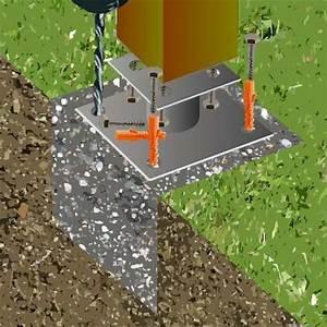 Comment Fixer Un Poteau Bois Au Sol : fixer des poteaux bois au sol ~ Dailycaller-alerts.com Idées de Décoration