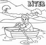 Coloring River Boat Ship Pirate Designlooter Printable sketch template