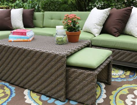 sunbrella fabric sectional sofas ae outdoor hton 8 piece sectional sofa set with