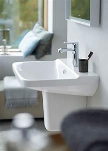 Lavabo Rectangulaire étroit : lavabos vasque en c ramique duravit ~ Edinachiropracticcenter.com Idées de Décoration