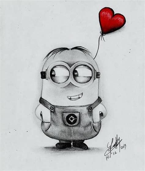 amor minion dibujado  lapiz mon tableau pinterest