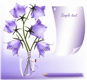 Elegant purple flower background art vector 02 – Over ...