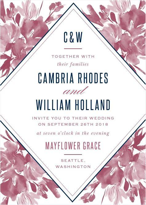 Subtle Fleuriste Wedding Invitations #weddinginvitation