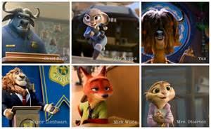 Zootopia Disney Movie Characters