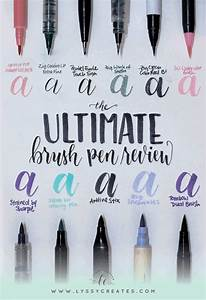 best 10 brush lettering ideas on pinterest With lettering markers