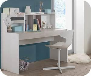 Bureau Blanc Avec Rangement : escritorio secreter juvenil leo blanco y madera ~ Teatrodelosmanantiales.com Idées de Décoration