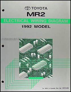 1992 toyota mr2 repair shop manual original 2 volume set