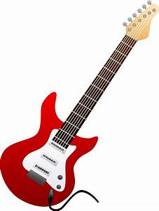 Electric Guitar Red | Free Images at Clker.com - vector ...