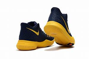 "2017 Girls Nike Kyrie 3 ""Cavs"" Deep Blue Yellow 