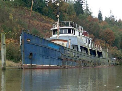 abandoned river boats west coast paddler sea kayak