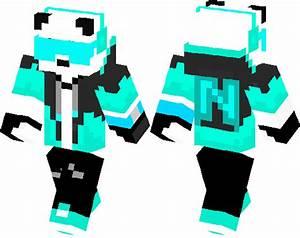 Neon Gamer Panda Minecraft Skin Minecraft Hub