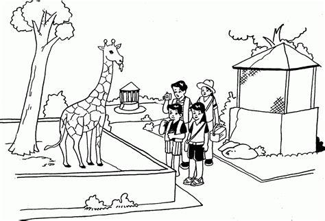 gambar mewarnai gambar tema kebun binatang di rebanas