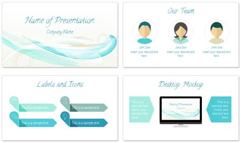 abstract watercolor powerpoint template presentationdeckcom