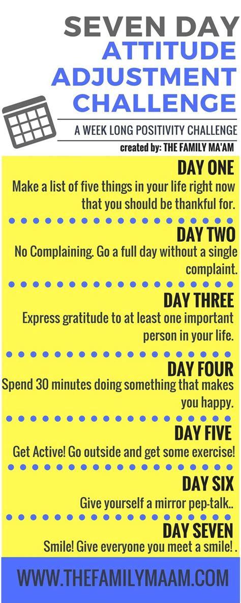 day attitude adjustment challenge  days