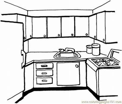 Kitchen Coloring Pages Coloringpages101