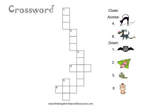 free easy crossword puzzles 878 | kindergarten crossword