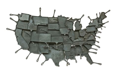 cast iron skillet map
