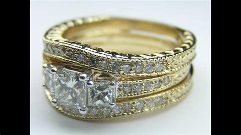 es35bsyg three stone princess cut diamond engagement ring