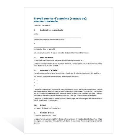 modèle de contrat de prestation de service word contrat de travail service d astreinte