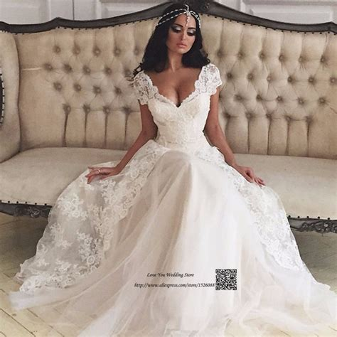 Vintage Bohemian Wedding Dress Lace Made In China Cheap