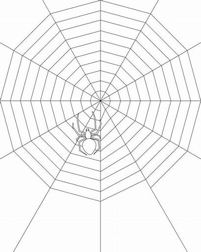 Spider Coloring Pages Web Printable Eat Silhouette