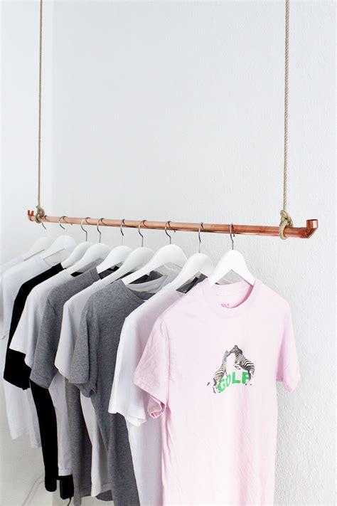 Kleiderstange Selbst Bauen by Diy Kleiderstange Aus Kupferrohr Selber Bauen Einfache