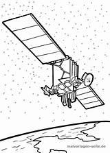 Coloring Satellite Satellit Malvorlage Malvorlagen Ausmalbilder Weltraum Space Seite Malen Ausmalbild Zum Gratis Ausmalen Graphics Open Kostenlose Klarinette Artikel sketch template