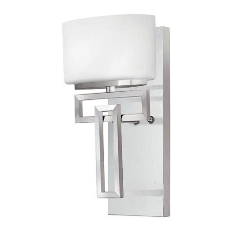 ip44 art deco bathroom wall light in chrome with opal