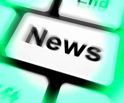 news keyboard, showing, newsletter broadcast, online ...