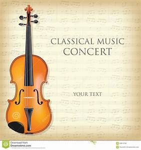 Classical music concert stock vector. Image of sign ...