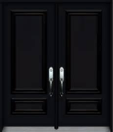 nb steel double door  decorative panels black portatec