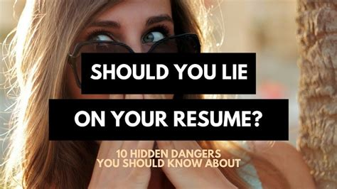 100 i lied on my resume request how to lie on your